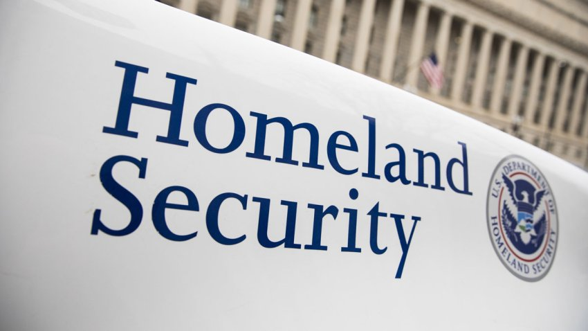 File photo of the Department of Homeland Security sign