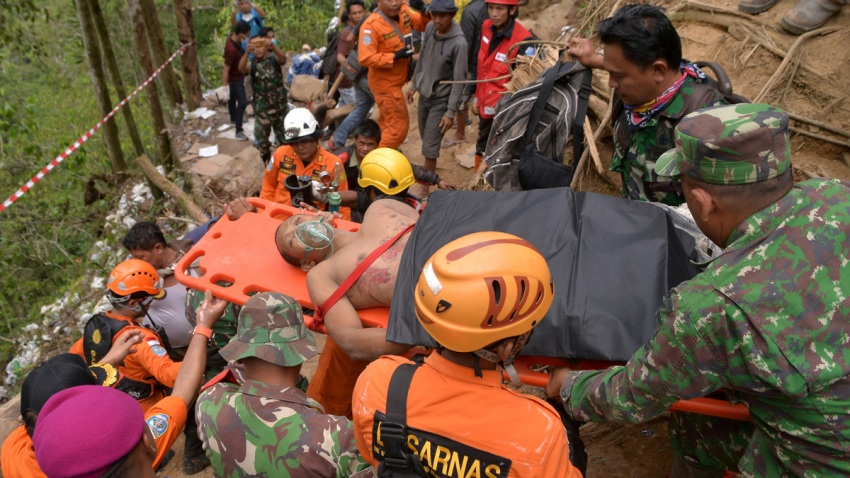 Indonesia Gold Mine Collapse