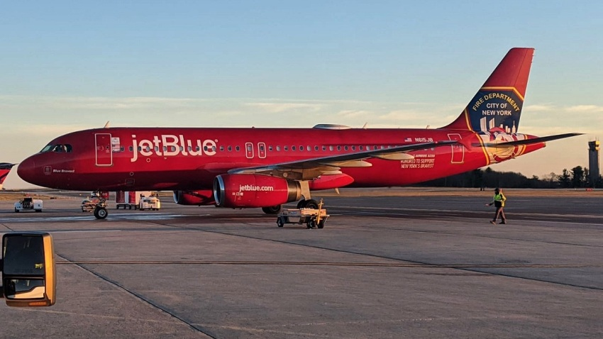 jetblue for fallen firefighter