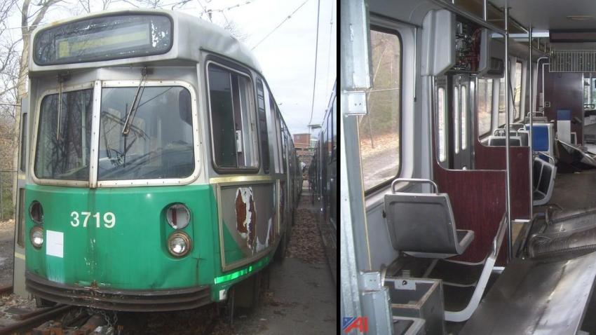 MBTA Green Line cars up for auction
