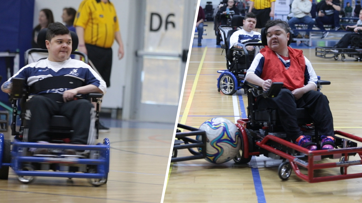 Mass. Twins With Rare Disease Reach the Top of Their Sport, Power Soccer