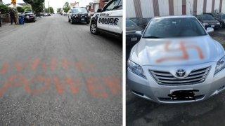 Revere hate crime graffiti