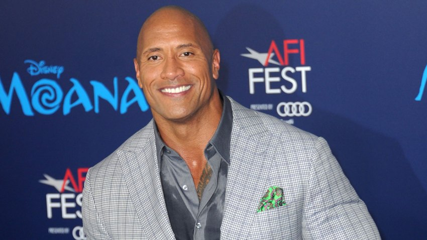 """In this Nov. 14, 2016, file photo, actor Dwayne Johnson arrives for the AFI FEST 2016 Presented By Audi - Premiere Of Disney's """"Moana"""" held at the El Capitan Theatre in Hollywood, California."""