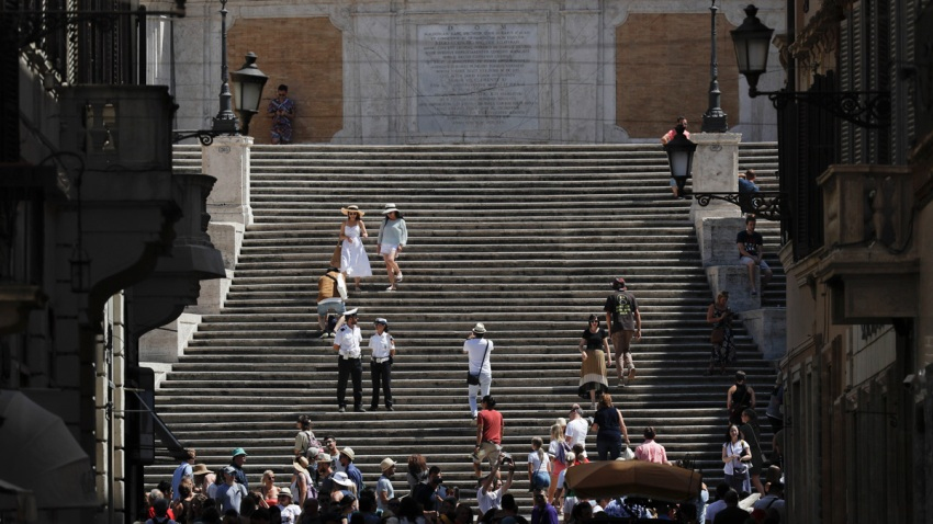 APTOPIX Italy Spanish Steps