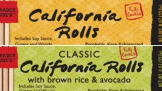 Trader Joe's sushi labels
