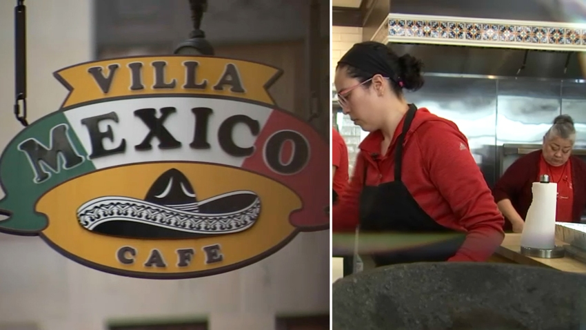 Bessie King at work at Villa Mexico Cafe