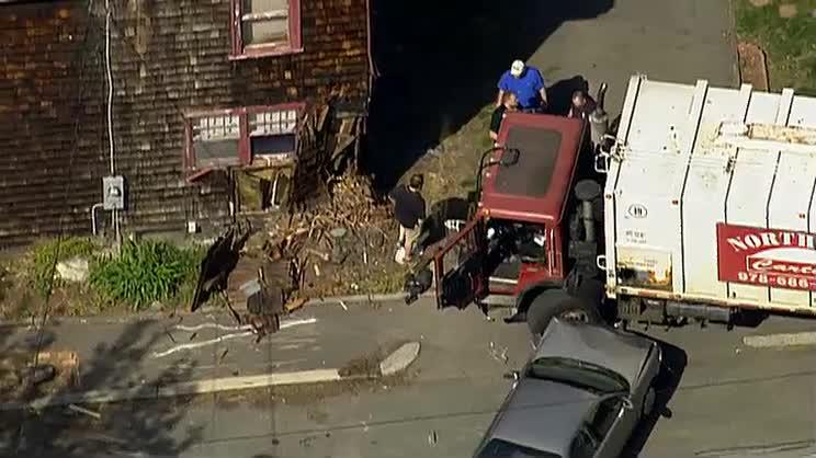 Runaway Truck Hits Car House Nbc Boston
