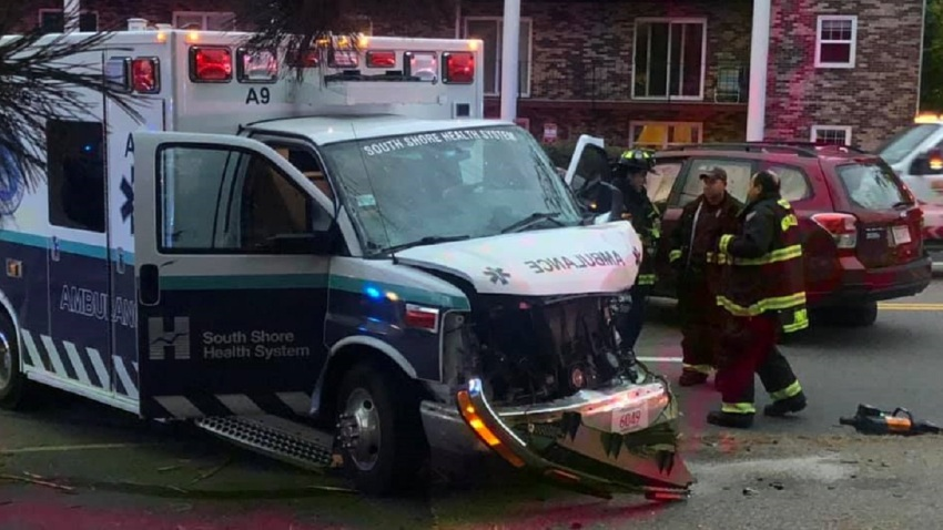 weymouth ambulance involved crash