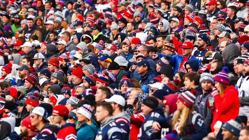 FOXBOROUGH, MA - DECEMBER 29: Fans look on during a game between the New England Patriots and the Miami Dolphins at Gillette Stadium on December 29, 2019 in Foxborough, Massachusetts.
