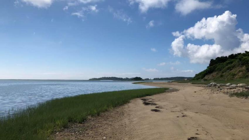 A photo of Sipson Island off the coast of Cape Cod. The island is now open to the public for the first time in more than 300 years.