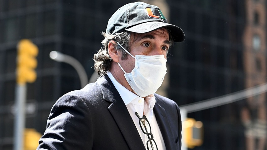 In this May 21, 2020, file photo, Michael Cohen arrives at his Park Avenue apartment in New York City.