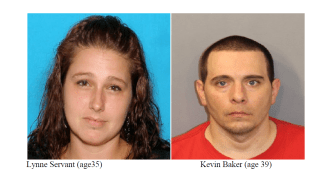 Lynne Servant and Kevin Baker are wanted in connection with a baby that overdosed on the powerful drug fentanyl in Fall River, Massachusetts