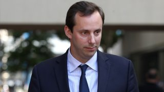 SAN JOSE, CALIFORNIA - SEPTEMBER 04: Former Google and Uber engineer Anthony Levandowski leaves the the Robert F. Peckham U.S. Federal Court on September 04, 2019 in San Jose, California. Levandowski appeared at a bond hearing after he was indicted on 33 criminal counts related to alleged theft from his former employer Google of autonomous drive technology secrets.