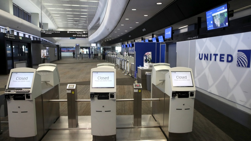 United Airlines ticket counter