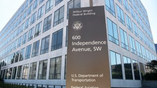 The Federal Aviation Administration building is pictured in Washington on Monday, July 13, 2020.