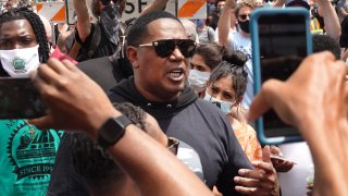 Rapper Master P attends the memorial service for George Floyd at North Central University on June 4, 2020 in Minneapolis, Minnesota.