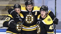 Bruins Win Playoff Opener in Double Overtime