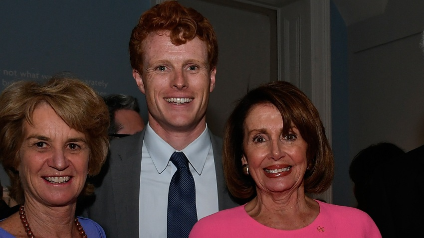 Nancy Pelosi with Joe Kennedy in 2017