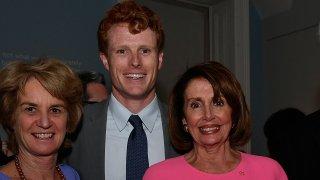 Nancy Pelosi with Joe Kennedy in 2017