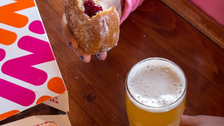 Harpoon Brewery and Dunkin beer