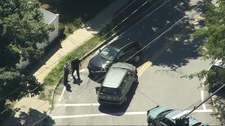 Police investigate crashed SUVs in Massachusetts