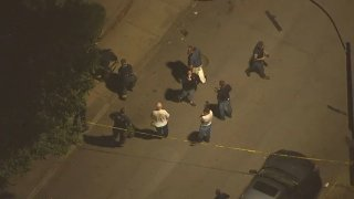 Police responded to a shooting in Boston's Charlestown neighborhood Thursday.