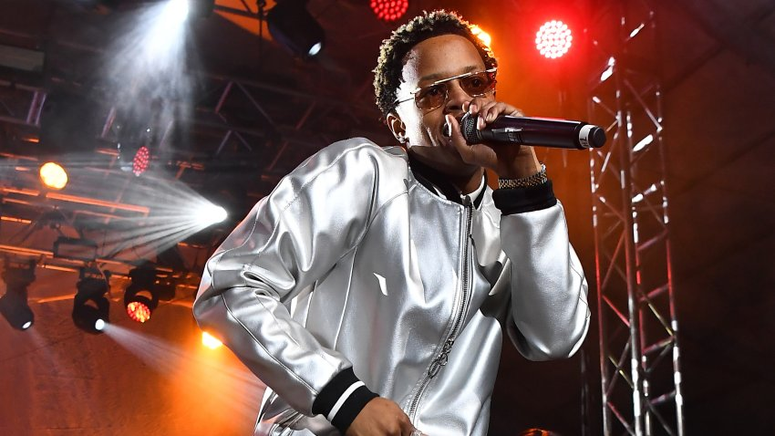 In this Jan. 28, 2019, file photo, rapper Silento performs in concert during 2019 Super Bowl Live at Centennial Olympic Park in Atlanta, Georgia.