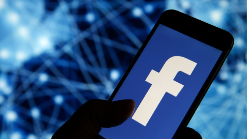 In this photo illustration, the Facebook logo is displayed on the screen of a smartphone on September 09, 2019 in Paris, France.