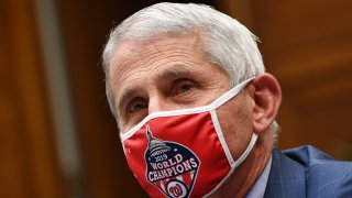 Dr. Fauci testifies while wearing a mask