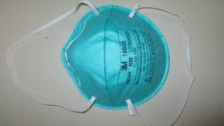 A fake N95 mask seized by border agents in Boston