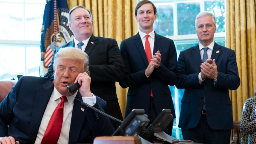 Donald Trump, Mike Pompeo, Jared Kushner, Robert O'Brie
