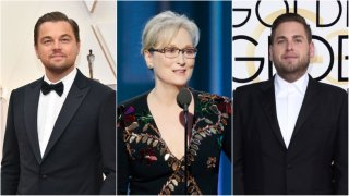Leonardo DiCaprio, Meryl Streep and Jonah Hill
