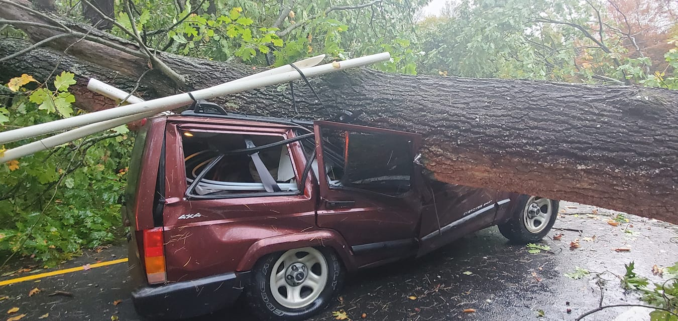 Photos  Powerful Storm Causes Damage In Mass  Communities