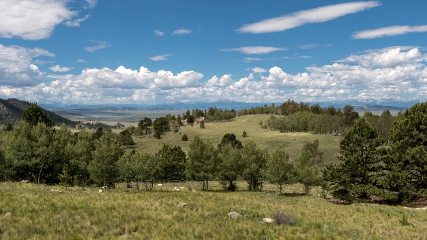 Scenic view of field against sky,Fairplay,Colorado,United States,USA