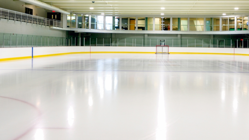 A file photo of an empty hockey rink