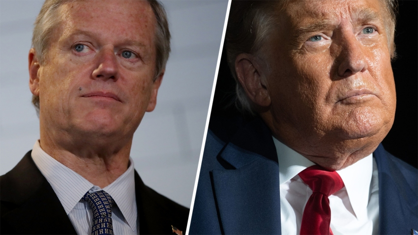 Gov. Charlie Baker and President Donald Trump
