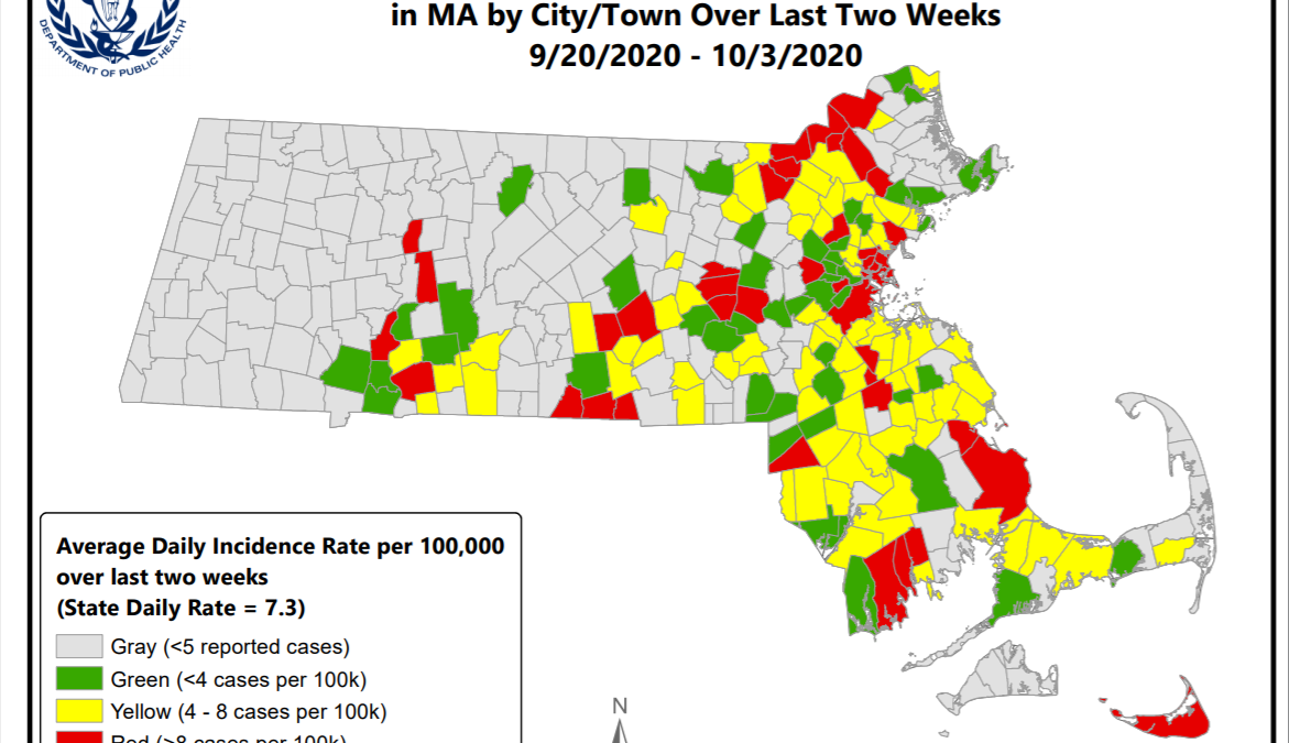 Mass Covid Risk Map 40 Towns Cities In The Red In Latest Data Nbc Boston
