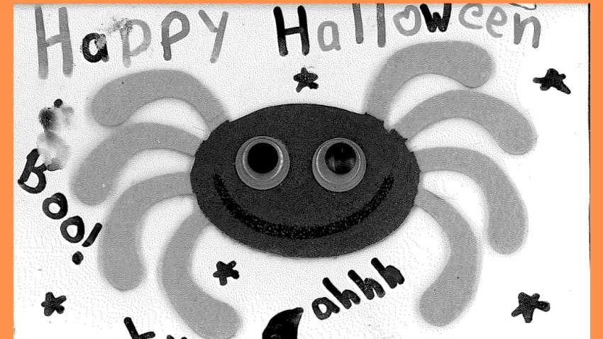 A hand-drawn spider, part of a letter from a Massachusetts child that was sent to Gov. Charlie Baker urging him not to cancel Halloween.