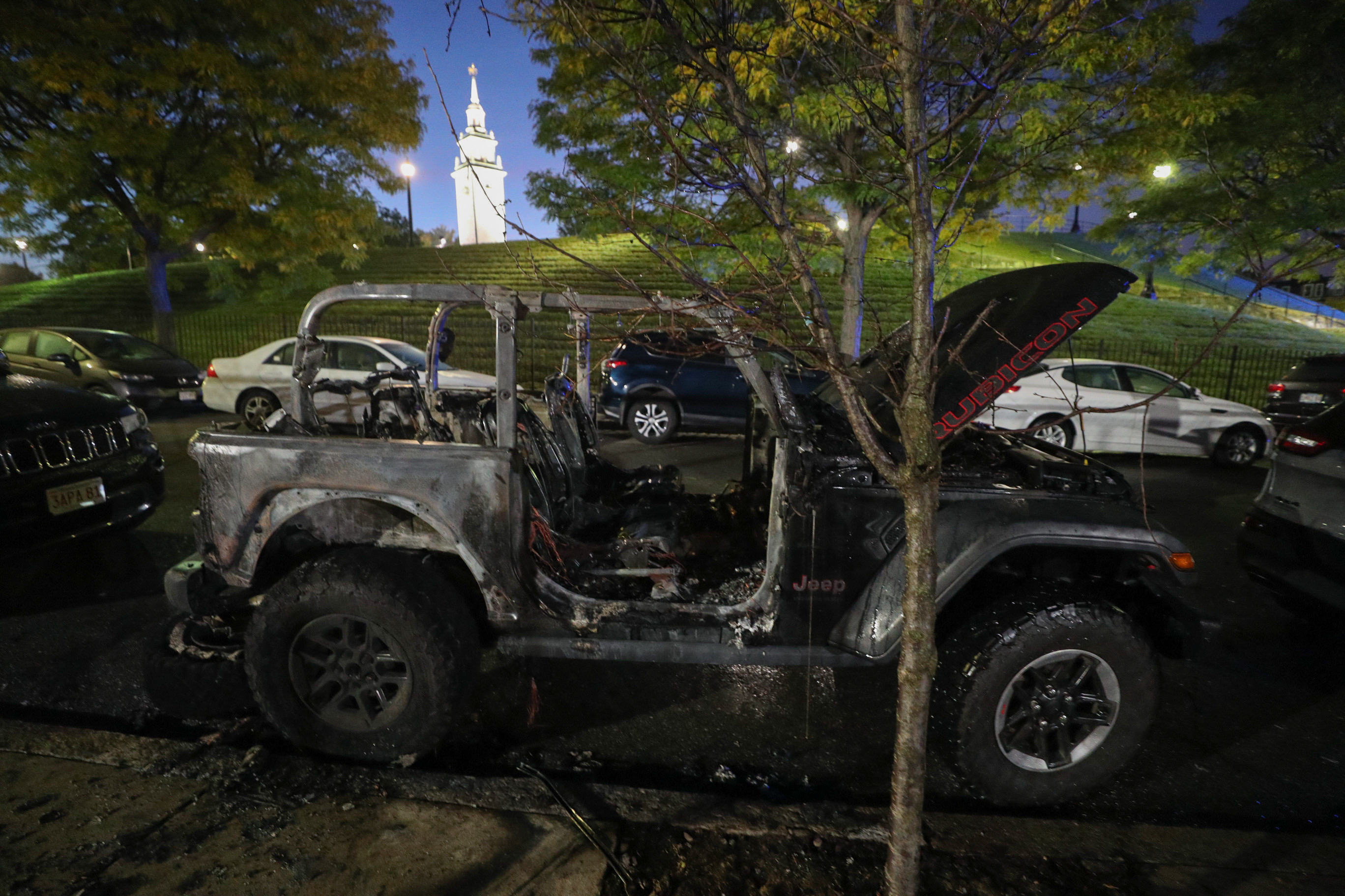 2 Badly-Burned Cars Found in South Boston