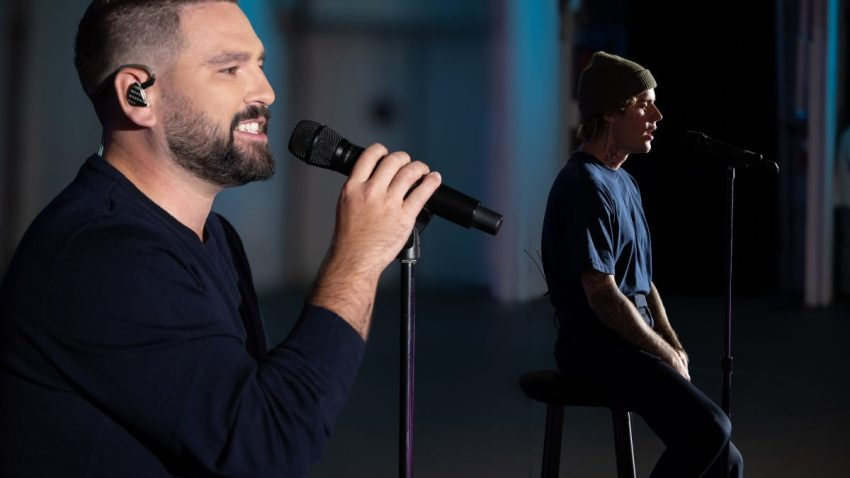 "Dan + Shay and Justin Bieber perform their hit ""10,000 Hours"" for the 54th Annual CMA Awards on Wednesday, Nov. 11, 2020."