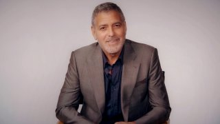 """In this Oct. 13, 2020, file photo, George Clooney speaks virtually during The Hollywood Foreign Press Association hosted annual grants presentation, """"HFPA Philanthropy: Empowering the Next Generation."""""""