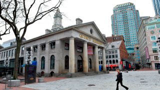 The exterior of Faneuil Hall in Boston