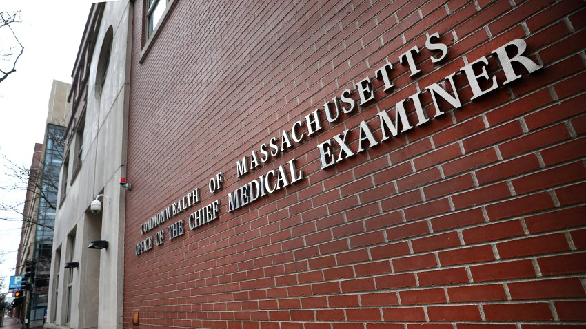The Office of the Chief Medical Examiner state government office in Boston at 720 Albany St. is pictured on March 25, 2020.