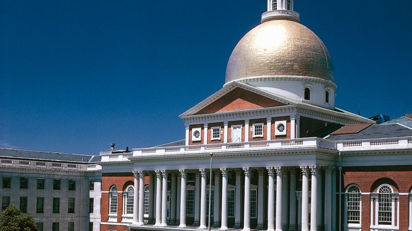 A file photo of the Massachusetts State House.