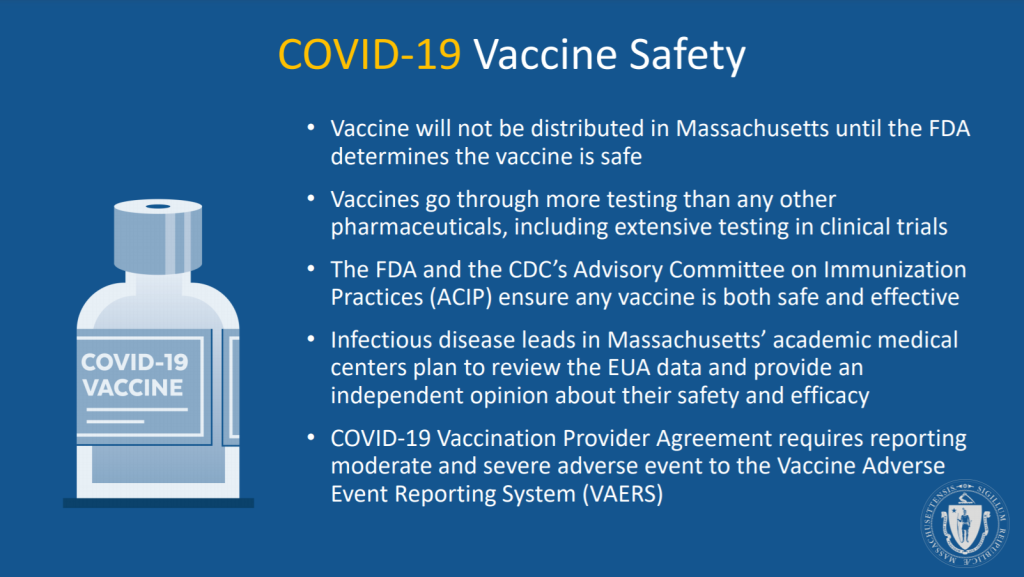 Is Massachusetts' coronavirus vaccine safe?