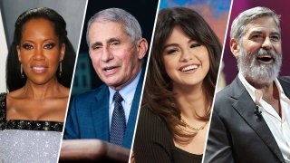 """From left: Actor Regina King, Dr. Anthony Fauci, singer Selena Gomez and actor George Clooney are four of People Magazine's """"2020 People of the Year."""""""