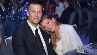 This Feb. 21, 2019, file photo shows Tom Brady and Gisele Bündchen attend a gala in Beverly Hills, California.