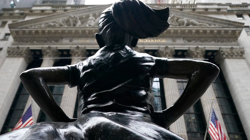 The Fearless Girl bronze sculpture by Kristen Visbal stands across from the New York Stock Exchange January 27, 20201.