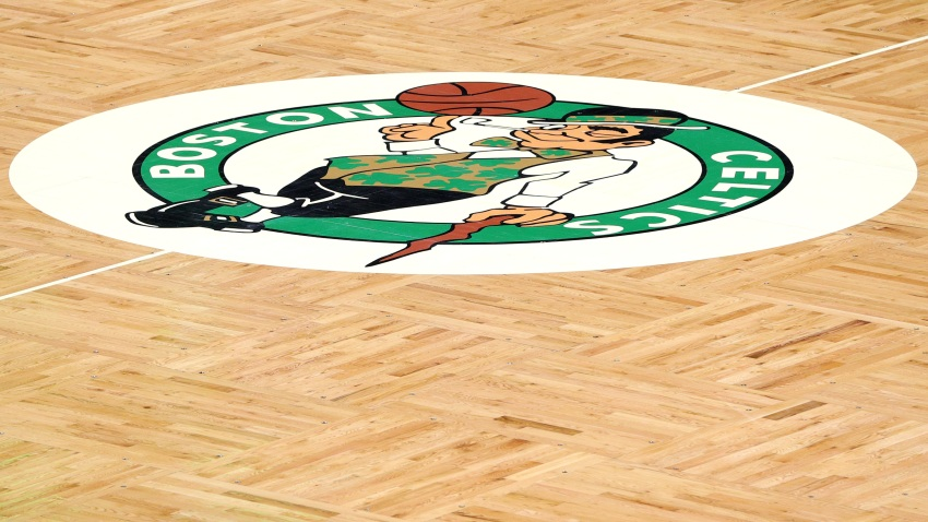A general view of the court inside TD Garden in Boston, Massachusetts, on January 10, 2021.
