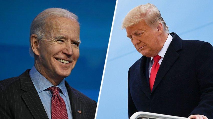 (Left) Joe Biden, (Right) Donald Trump